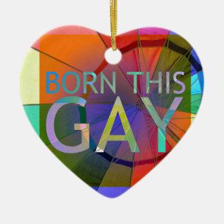 Ornamento De Cerâmica Nascer este gay