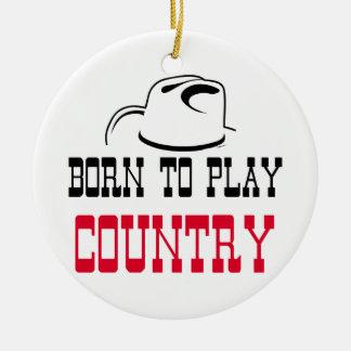 Ornamento De Cerâmica Nascer para jogar o país
