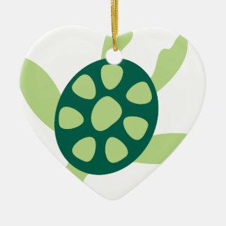 Ornamento De Cerâmica Natação da tartaruga verde