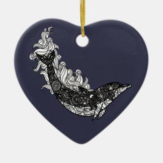 Ornamento De Cerâmica Natação do golfinho