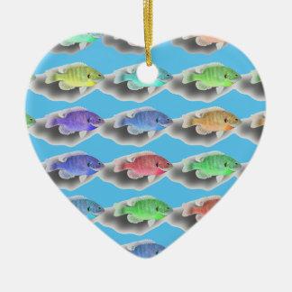 Ornamento De Cerâmica Natação Fishies