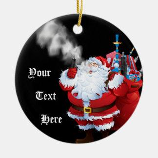 Ornamento De Cerâmica Natal alegre Papai Noel Vaping de VAPE   Vaping