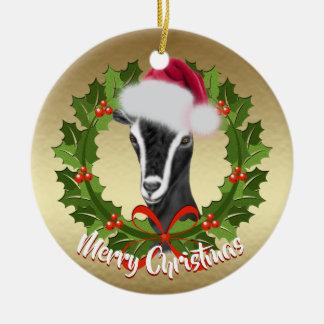 Ornamento De Cerâmica Natal alpino do chapéu do papai noel da gama da