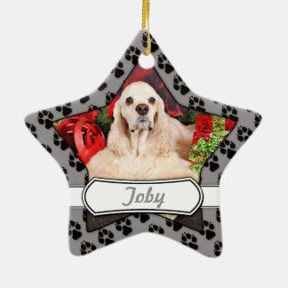Ornamento De Cerâmica Natal - Cocker - Toby, Havanese - pouco T