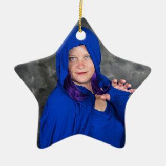 Ornamento De Cerâmica Natal com corvo e dobrador:)