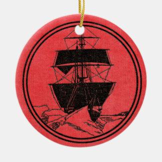 Ornamento De Cerâmica Natal da capa do livro do Nimrod de Shackleton