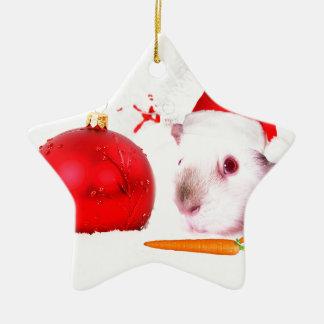 Ornamento De Cerâmica Natal da cobaia