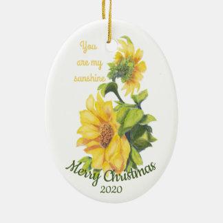 Ornamento De Cerâmica Natal datado feito sob encomenda você é minhas
