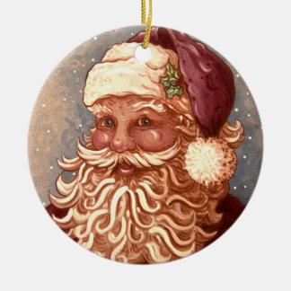 Ornamento De Cerâmica Natal de 4884 Papai Noel