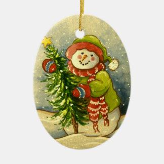 Ornamento De Cerâmica Natal de 4901 bonecos de neve