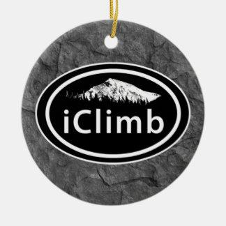 Ornamento De Cerâmica Natal de escalada personalizado da montanha do