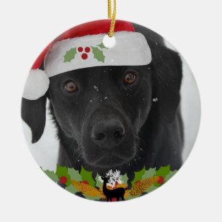 Ornamento De Cerâmica Natal de labrador retriever