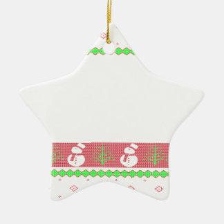 Ornamento De Cerâmica Natal de Ulgy do cão
