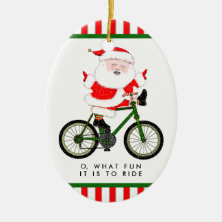 Ornamento De Cerâmica Natal do ciclista Collectible