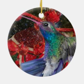 Ornamento De Cerâmica Natal do colibri