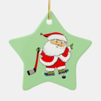 Ornamento De Cerâmica Natal do hóquei