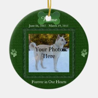 Ornamento De Cerâmica Natal do memorial do animal de estimação do cão ou