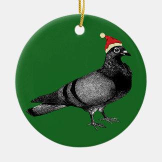 Ornamento De Cerâmica Natal do pombo