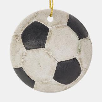 Ornamento De Cerâmica Natal do presente dos jogadores de futebol da