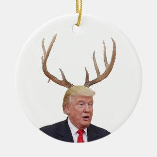 Ornamento De Cerâmica Natal do trunfo: Sr. presidente dos cervos