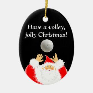 Ornamento De Cerâmica Natal do voleibol