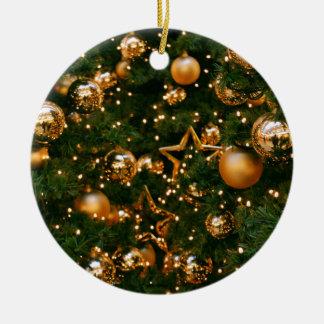 Ornamento De Cerâmica Natal dourado