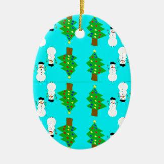 Ornamento De Cerâmica Natal e snowman.ai