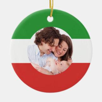 Ornamento De Cerâmica Natal feito sob encomenda da foto da família