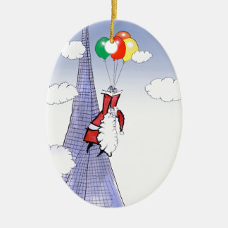 Ornamento De Cerâmica Natal feliz de ShardArt por Tony Fernandes