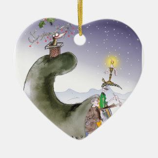 Ornamento De Cerâmica Natal feliz de yorkshire do amor