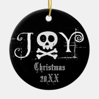 Ornamento De Cerâmica Natal gótico da alegria