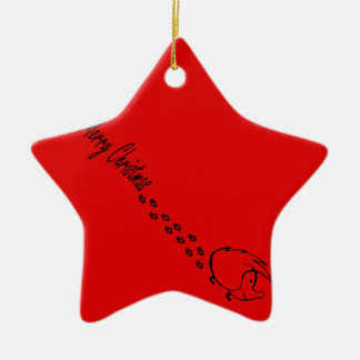 Ornamento De Cerâmica Natal Hedgie