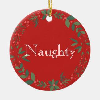 Ornamento De Cerâmica Natal impertinente ou agradável