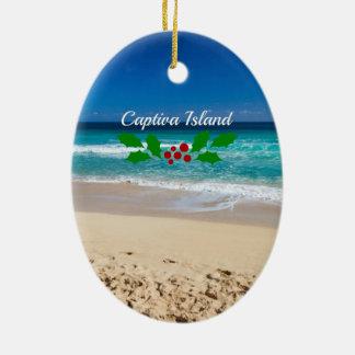 Ornamento De Cerâmica Natal na ilha de Captiva, Florida
