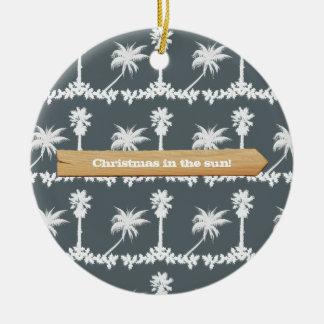 Ornamento De Cerâmica Natal no Natal da praia de Sun