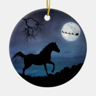 Ornamento De Cerâmica Natal Ornamet do cavalo