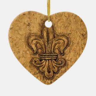 Ornamento De Cerâmica Natal personalizado | da flor de lis