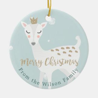 Ornamento De Cerâmica Natal personalizado   macio bonito do azul dos