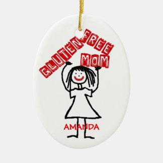 Ornamento De Cerâmica Natal sem glúten da mamã
