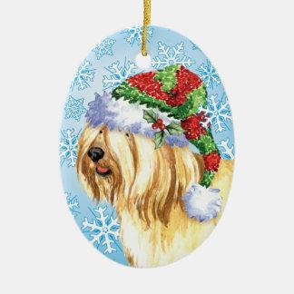 Ornamento De Cerâmica Natal Terrier tibetano