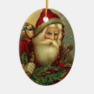 Ornamento De Cerâmica Natal vintage Papai Noel