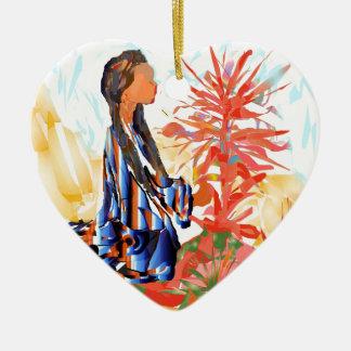 """Ornamento De Cerâmica Nativo americano """"a árvore de doação """""""