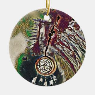 Ornamento De Cerâmica Nativo americano Dreamcatcher