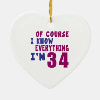 Ornamento De Cerâmica Naturalmente eu sei que tudo eu sou 34