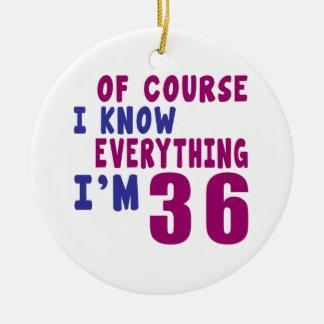 Ornamento De Cerâmica Naturalmente eu sei que tudo eu sou 36