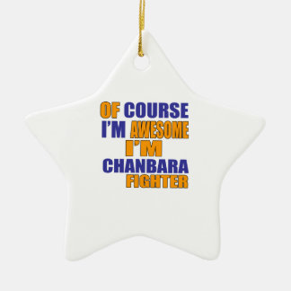 Ornamento De Cerâmica Naturalmente eu sou lutador de Chanbara