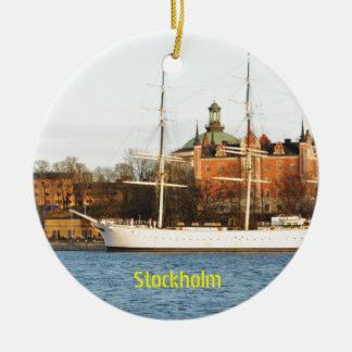Ornamento De Cerâmica Navegando em Éstocolmo, suecia