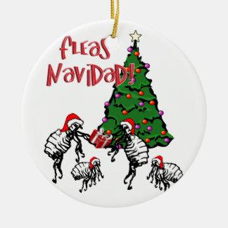 Ornamento De Cerâmica NAVIDAD das PULGA - Pulga do Natal e árvore de