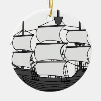 Ornamento De Cerâmica Navio da vela