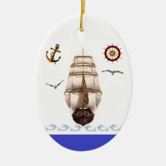 Ornamento De Cerâmica Navio de navigação